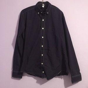 ‼️ AA Dark Purple Button Up Long Sleeve Shirt